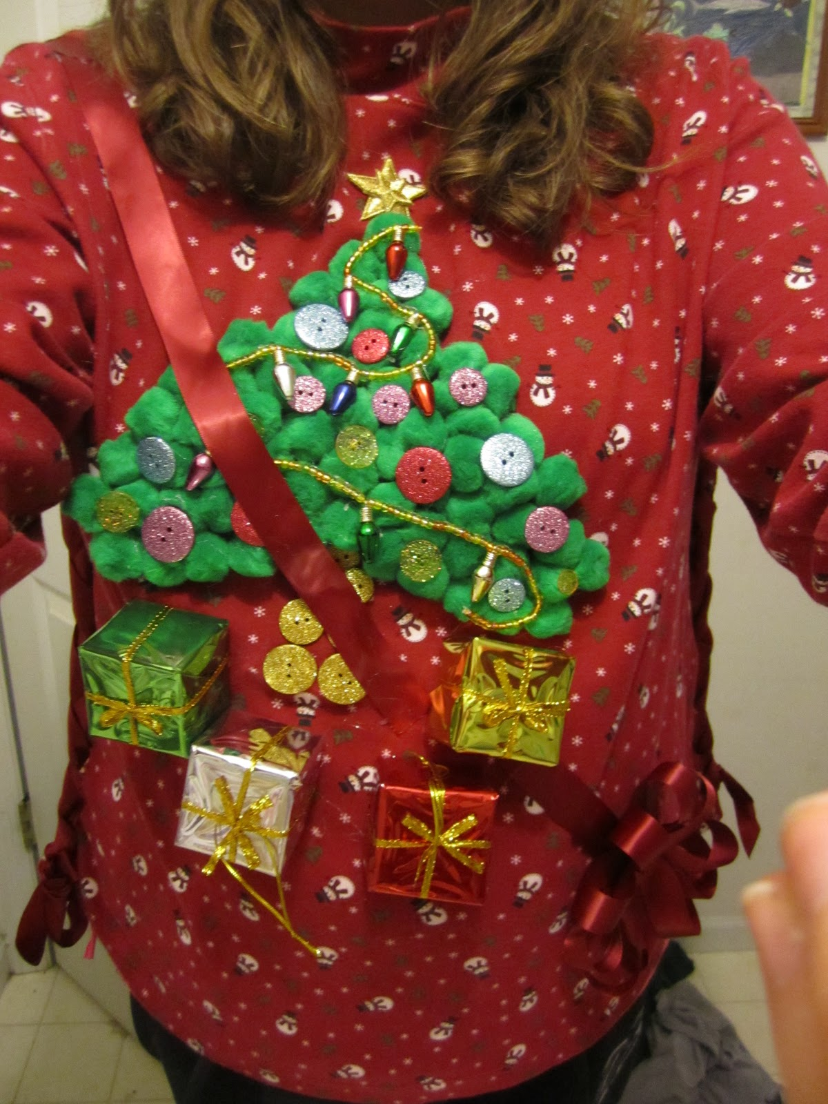My church's youth group is having an ugly sweater party tonight, complete with a Baking Contest. Since I am a local celebrity and all (you know, the kind of celebrity that you see late at night on the weather channel being filmed during a massive tornado saying something like, 'Its like, windy out.' Yeah. Thats me.) I was asked to be a judge!
