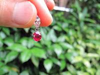 459:ミャンマー産 非加熱ルビー 1.3ct マーキスカットダイヤモンド PT900 ペンダント