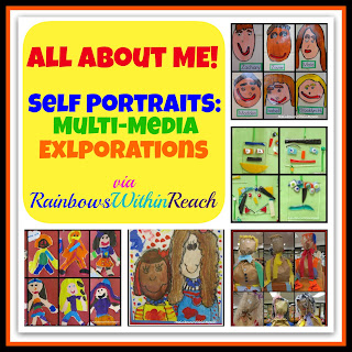 photo of: Self Portraits by Children (&quot;All About Me&quot; RoundUP via RainbowsWithinReach) 