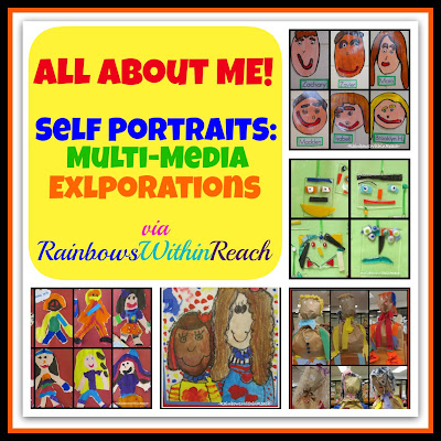 """photo of: Self Portraits by Children (""""All About Me"""" RoundUP via RainbowsWithinReach)"""
