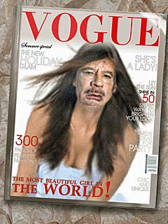 Muammar Gaddafi i Vogue.