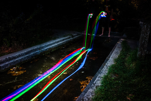 05-Sean-Lenz-and-Kris-Abildgaard-night-photography-glow-sticks-road-flares-headlamps-moonlight