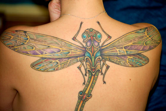 Dragonfly tattoos meaning