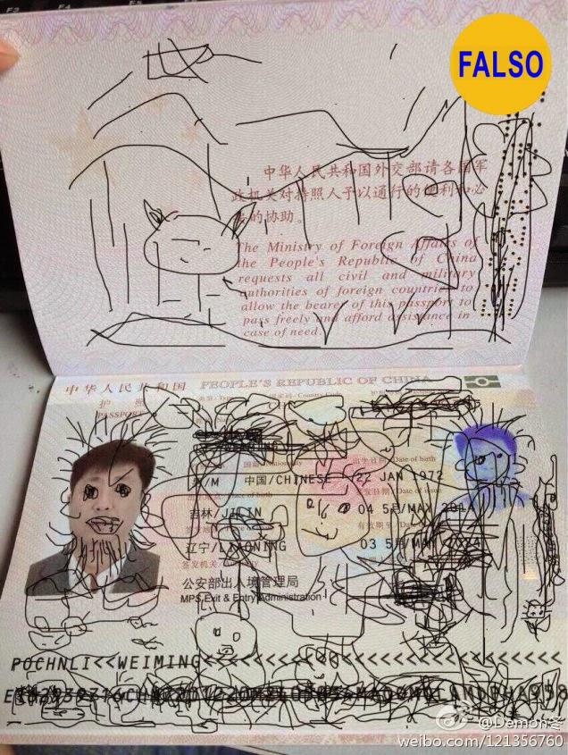 El pasaporte garabateado que atrapó a un padre en Seul
