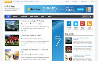 Free download Fastest Magz premium responsive blogger templates