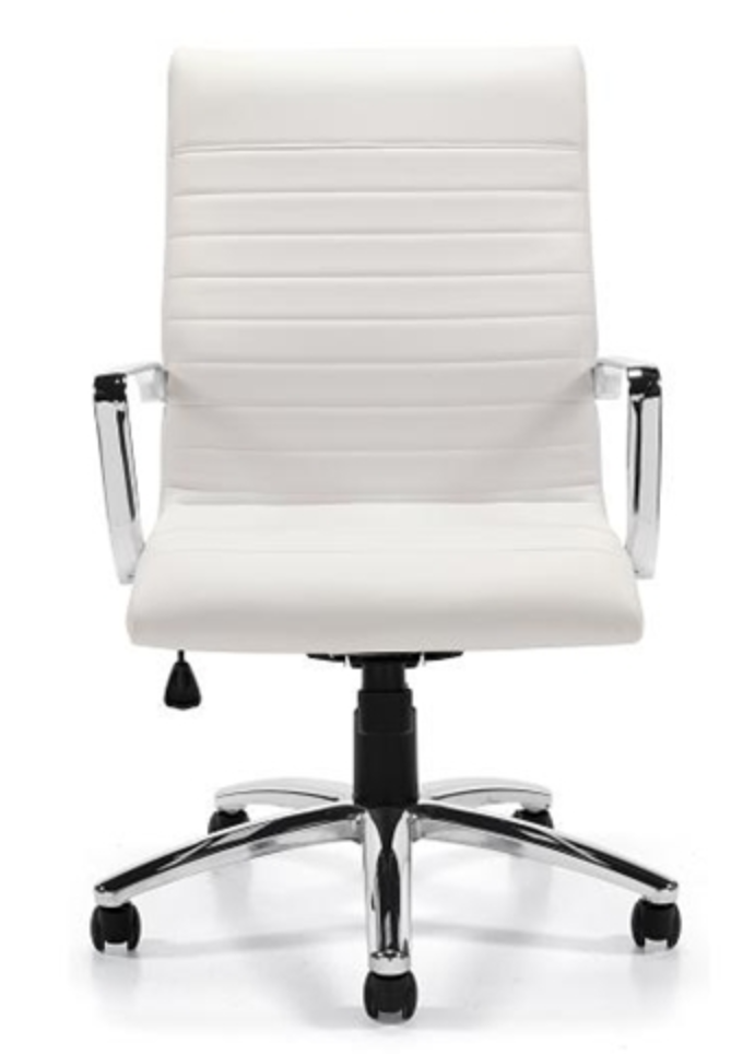 White Ribbed Chair by Office To Go