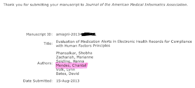 JAMIA, Journal of American Medical Informatics Association, Publication