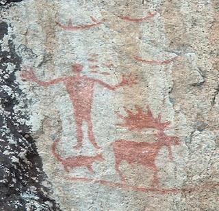 Hegman Lake Pictographs. Courtesy Wikimedia Commons.