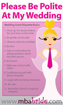 Wedding Guest Makeup Etiquette : 10 Simple Etiquette Rules for Wedding Guest The MBA Bride