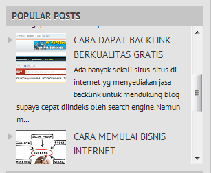 cara buat scroll popular post