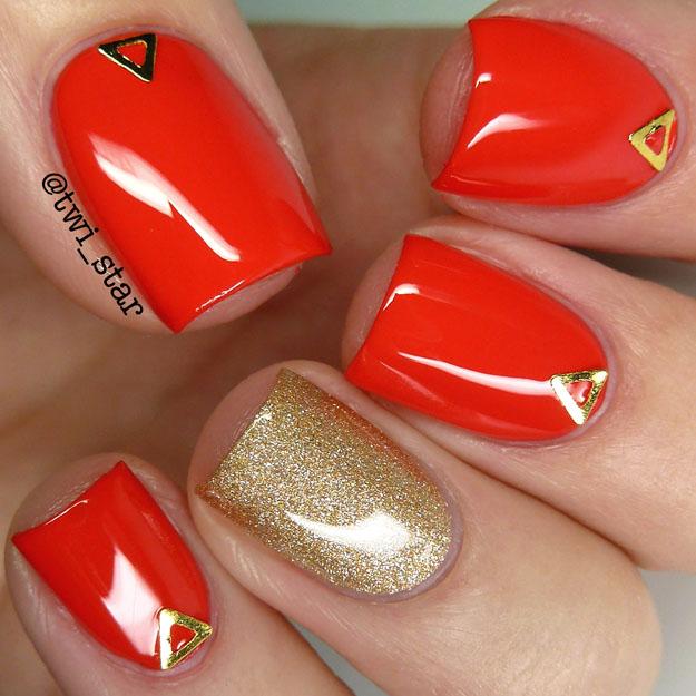 Born Pretty Store Isoceles Triangle Stud Item #16679