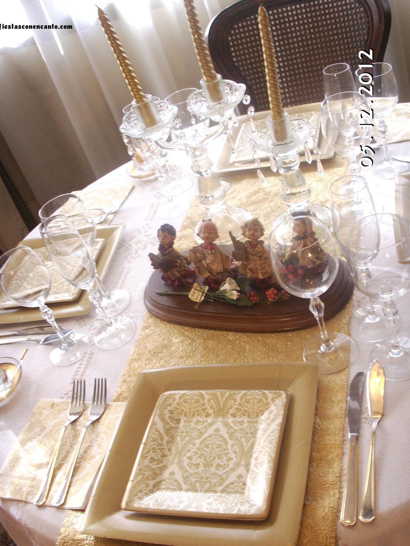 Fiestas con encanto decoraci n mesa de navidad elegance - Decoracion navidad moderna ...