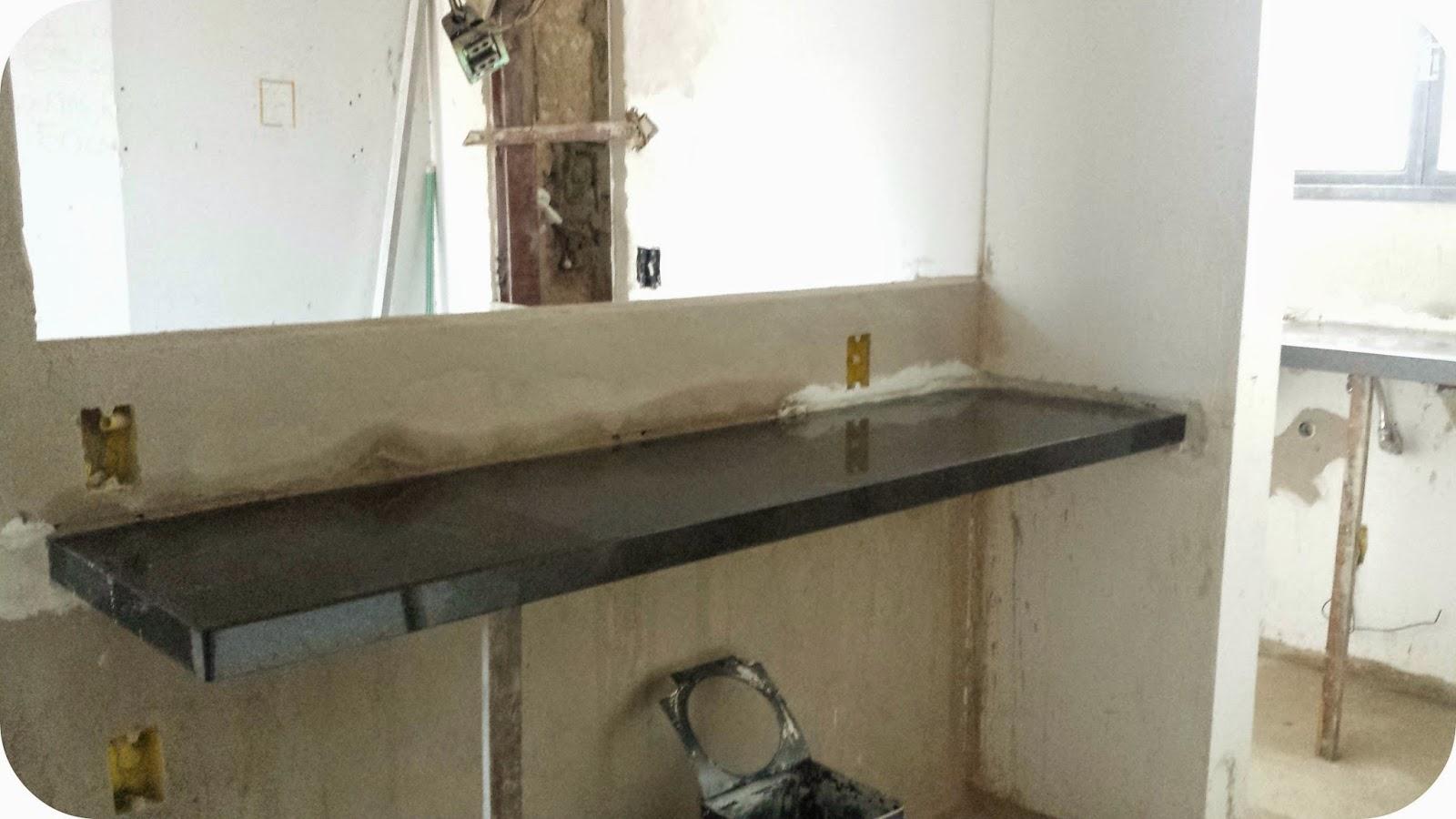 cozinha americana bancada de granito #5C503B 1600 900