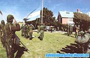 Islas Malvinas Argentinas: El ex gobernador en Malvinas detenido bandera en malvinas