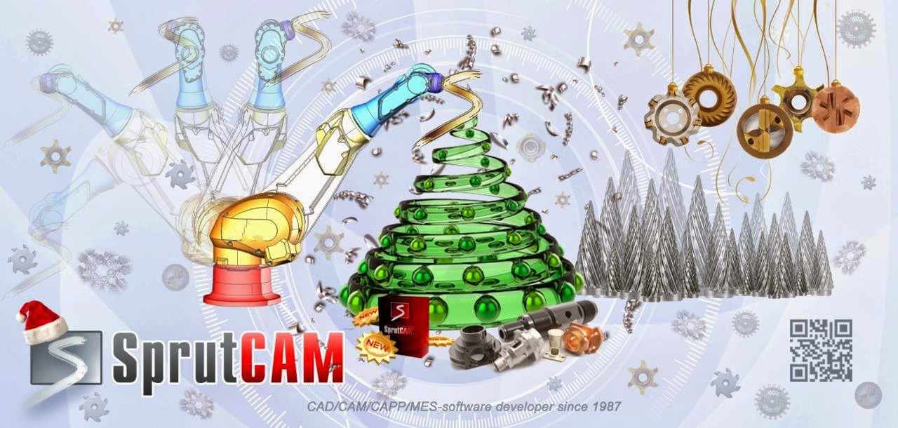 Season's Greetings from SprutCAM Team