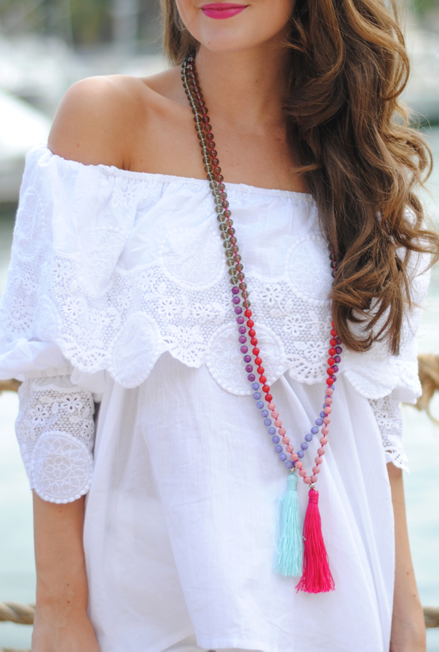 Love these tassel necklaces