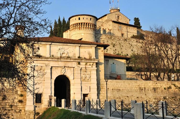 Castello di Brescia, Lombardiet, Italien