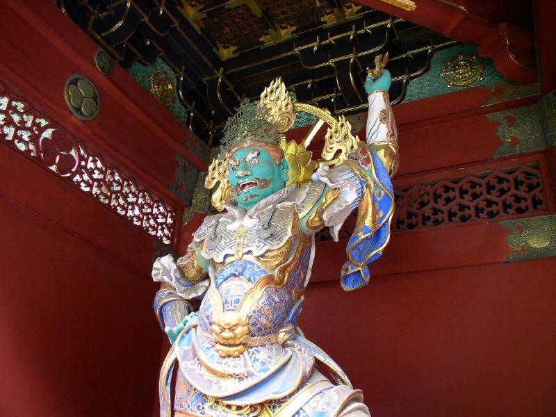 Shintenno en templo budista