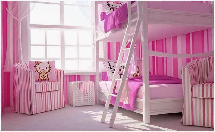 Dormitorios infantiles decoractual dise o y decoraci n - Dormitorio hello kitty ...