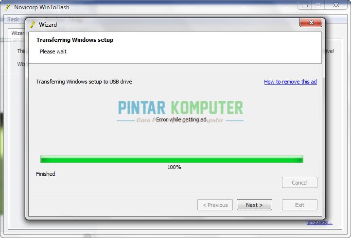 ... windows 7 pada flashdisk. Selanjutnya kita mulai menginstall windows