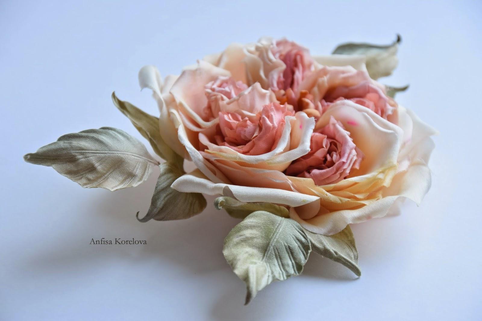 Мастер класс по цветку из шелка