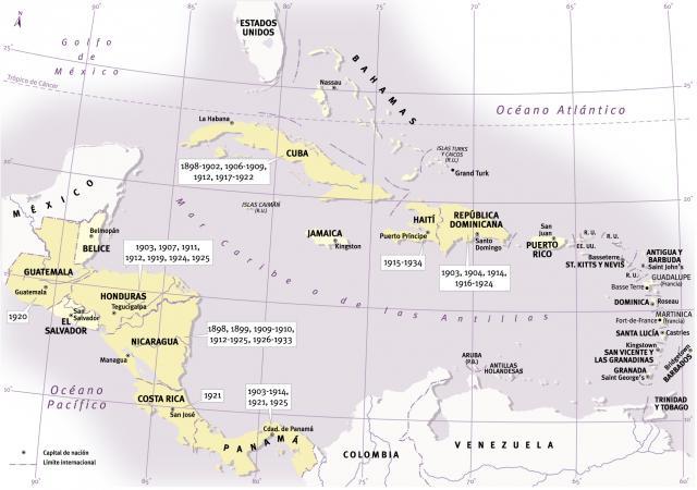 intervenciones militares USA en el Caribe, América Latina, guerra, intervenciones armadas, imperialismo, America, yankee, intervencionismo en América Latina