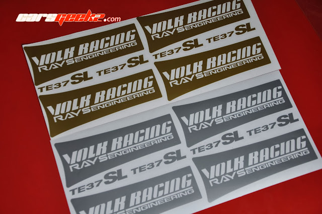 Volk Racing Rays Engineering TE37SL silver decals