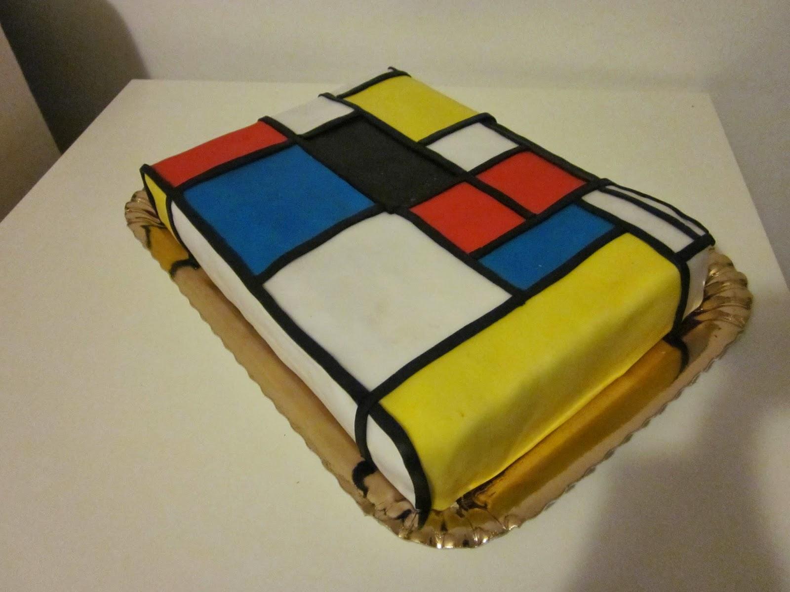 Sempre per il mio compleanno ho fatto una torta ispirata alle forme  geometriche dei quadri di Keith Haring.