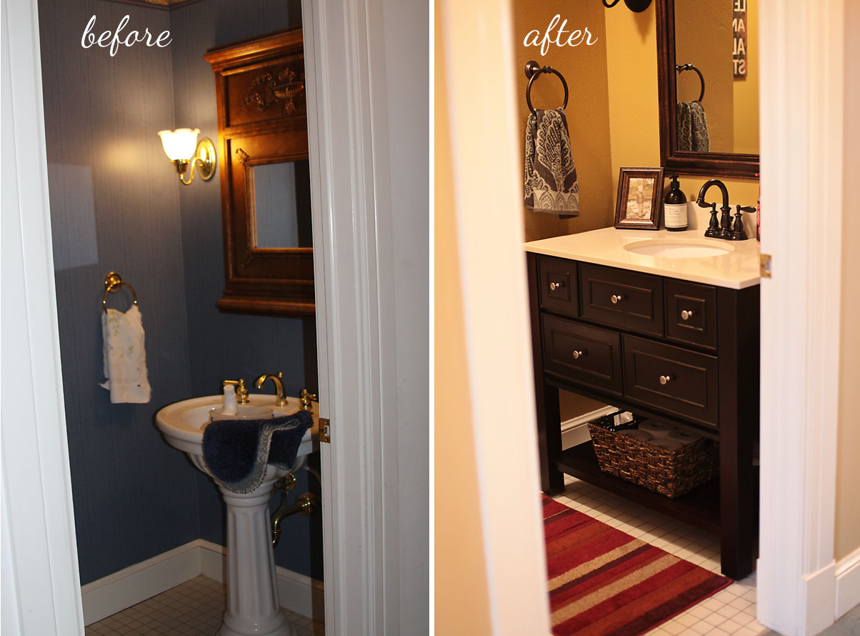 Elephant Juice Diy Powder Room Makeover