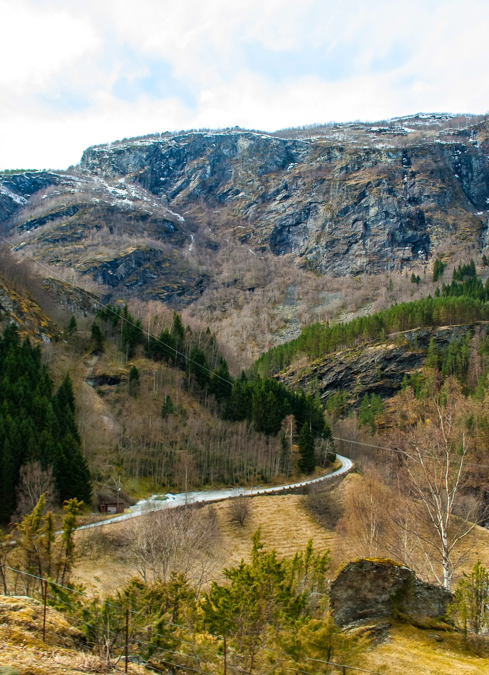 The scenic views from the flam railway