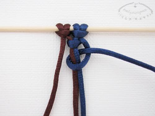 Podwójny węzeł łańcuszkowy wykonywany na 4 sznurkach - 4