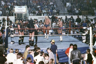 WWF's Demolition vs. Danny Spivey and Jerry Allen in Newmarket, Ontario on March 17, 1987