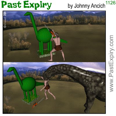 [CARTOON] The First Topiary. 3D, animals, cartoon, caveman, dinosaur, prehistoric, 