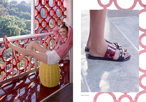 Melissa coleção Wanna Be Carioca flat e rasteirinha verão 2016