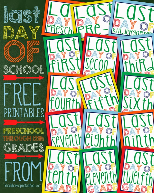It's just a graphic of Vibrant Last Day of Preschool Printable