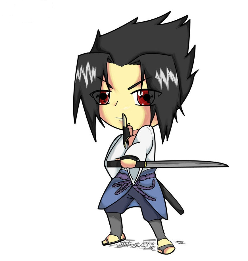 naruto uchiha sasuke chibi