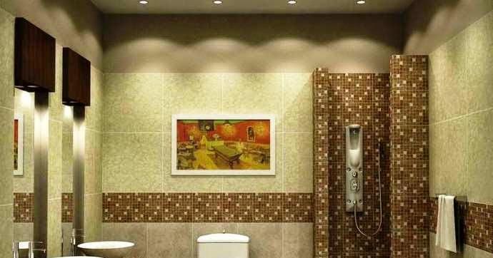 wall painting ideas bathroom
