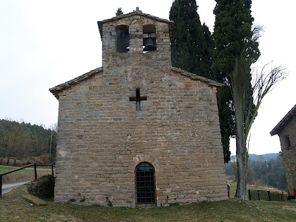 Façana de ponent de Sant Jaume de Fonollet