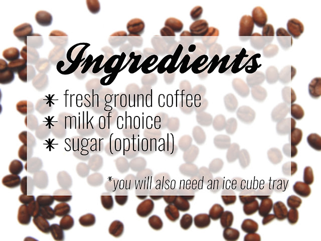 List of iced coffee recipe ingredients