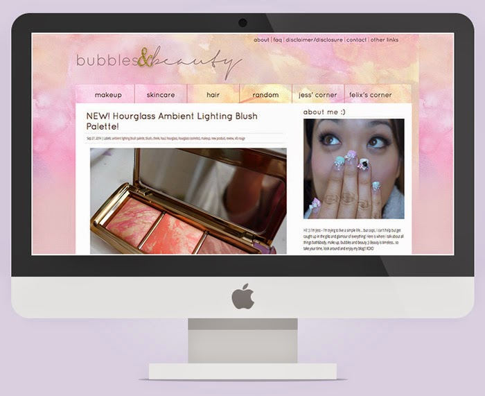 bubbles and beauty blogger template custom design