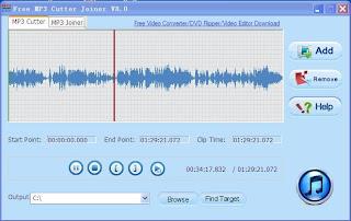 Free MP3 Cutter Joiner  תוכנה לחיתוך שירים MP3 להורדה בחינם