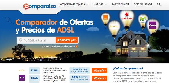 Comparaiso, el comparador de ofertas ADSL