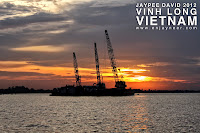 Mekong Delta River, Vinh Long, Sunset, Vietnam, Vietnamese, Boat Cruise