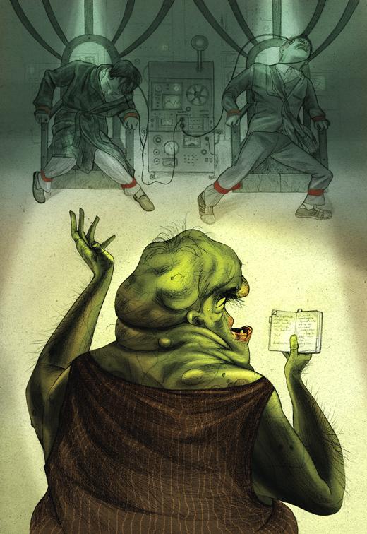Jonathan Burton. Ilustraciones para La Guia del Autoestopista Galactico (The Hitchhiker's Guide to the Galaxy) de Douglas Adams
