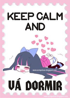 Foto Mensagem de Keep Calm and vá dormir/Boa Noite para Compartilhar no Facebook