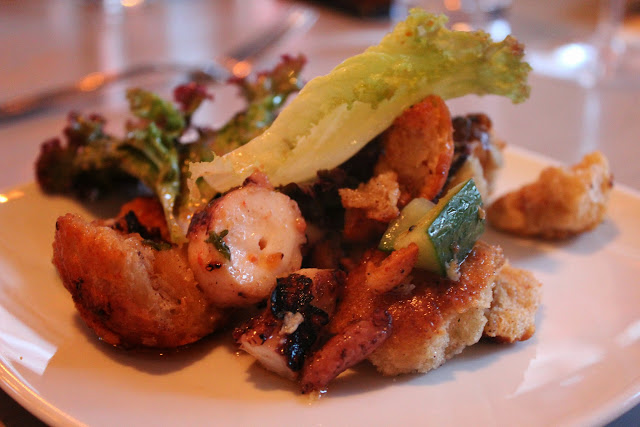 Grilled octopus at Tavern Road, Boston, Mass.