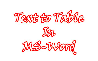 text to table in ms-word