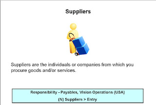 Oracle Purchasing Suppliers