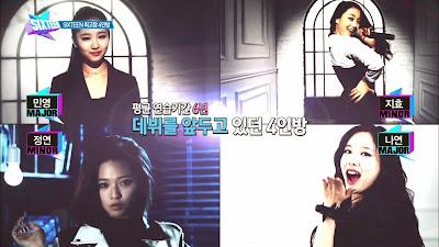 SIXTEEN Minyoung, Jihyo, Jungyeon, Nayeon