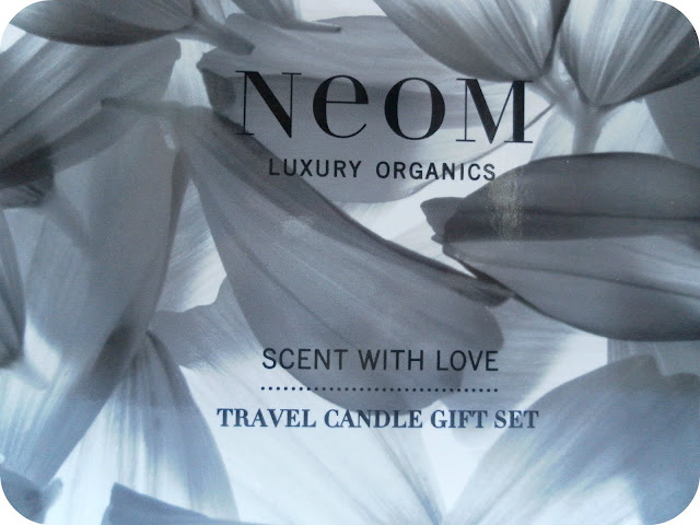 A picture of NEOM Scent With Love Travel Candle Giftset